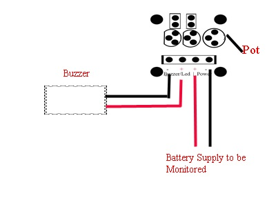 Low Battery Indicator wiring instructions
