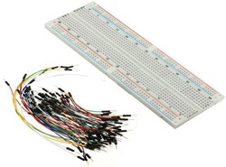 MB102 830 Tie Points Solderless PCB Breadboard + 65 Pcs Jumper Cables