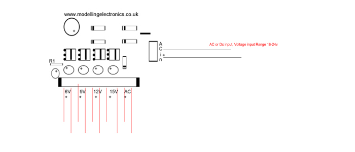 Multi Voltage Power Supply Unit wiring instructions
