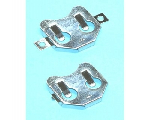 CR2032 Coin cell retainer contacts